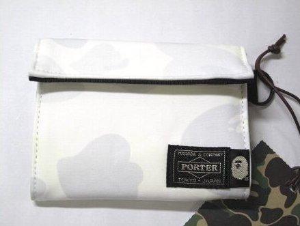 APE × ポーター ホワイト カモ 財布