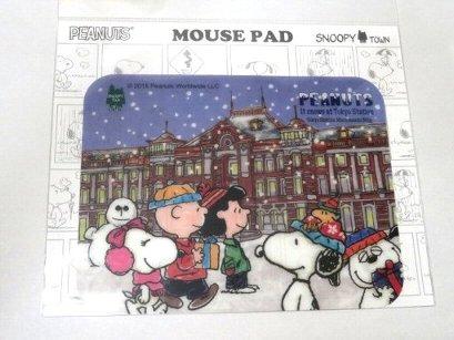 ZAK スヌーピー 東京駅 雪景色 マウスパッド