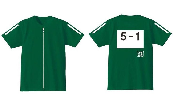 ZAK 水曜どうでしょう ジャージTシャツ 緑 Lサイズ