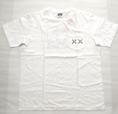 UT ユニクロ KAWS 胸ポケ(XX)Tシャツ S