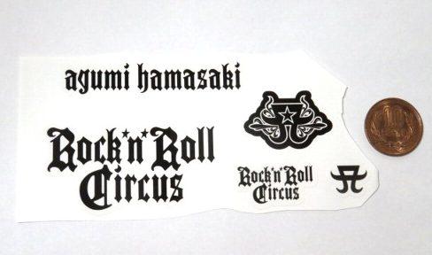 ZAK 浜崎あゆみ ロックンロールガールズ ステッカーセット ロゴ