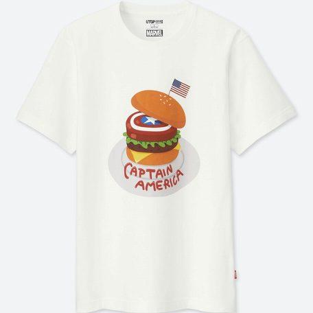 UT ユニクロ マーベル キャプテンアメリカ ハンバーガー Tシャツ L