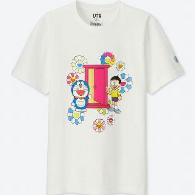 UT ユニクロ ドラえもん 村上隆 Tシャツ L ドコデモドア 白