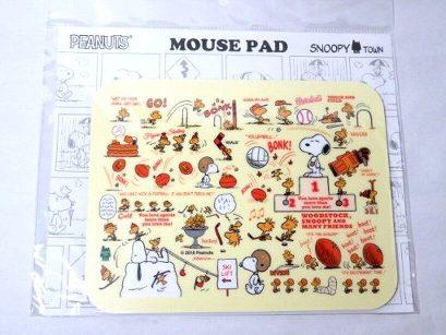 スヌーピー マウスパッド ウッドストックがいっぱい(スポーツ)