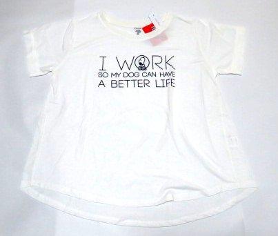 スヌーピー 犬が良い生活をするため働いています Tシャツ 女性用L