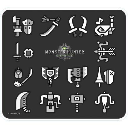 ZAK モンスターハンター ワールド マウスパッド 武器アイコン