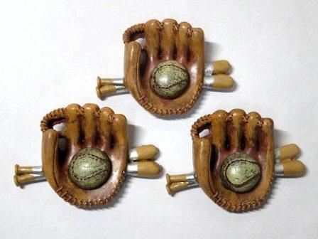 ZAK 野球セット マグネット 3個セット
