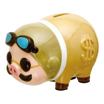ZAK ジブリ 紅の豚 なつかしい豚の貯金箱