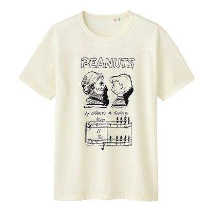 UT スヌーピー チャールズ・シュルツ Tシャツ 白 XL