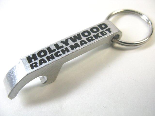 ハリウッドランチマーケット HRM キーホルダー オープナー銀