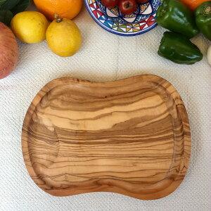 【直輸入 フェアトレード】オリーブの木 自然の抗菌作用 カッティングボード 北アフリカ・チュニジアより オリーブの木 溝付きOVALE 野菜、肉、ソースなどがとまります カッティングボ