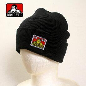 BEN DAVIS ニット帽 ベンデイヴィス ニットキャップ メンズ レディース 帽子 ストリート ヒップホップ ダンス 衣装 ブランド ファッション AMAZING (ブラック)