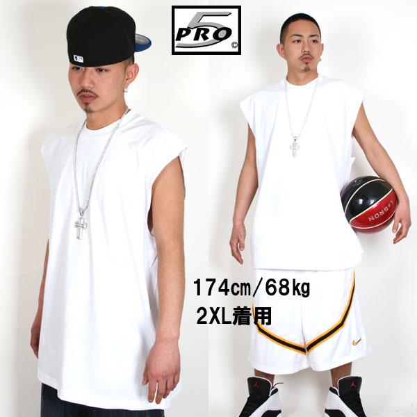 PRO5 プロファイブ ノースリーブ Tシャツ【ホワイト】