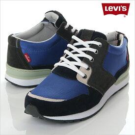 Levi's リーバイス スニーカー NY RUNNER 大きいサイズ ブルー×ブラック 送料無料 大きいサイズ B系 ストリート系 ヒップホップ ダンス 衣装 ブランド ファッション AMAZING アメージング 服