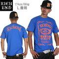 RICHEND/リッチエンドTシャツ【HYBRID/ハイブリッド】ロイヤルブルー×オレンジAMAZINGアメージング服