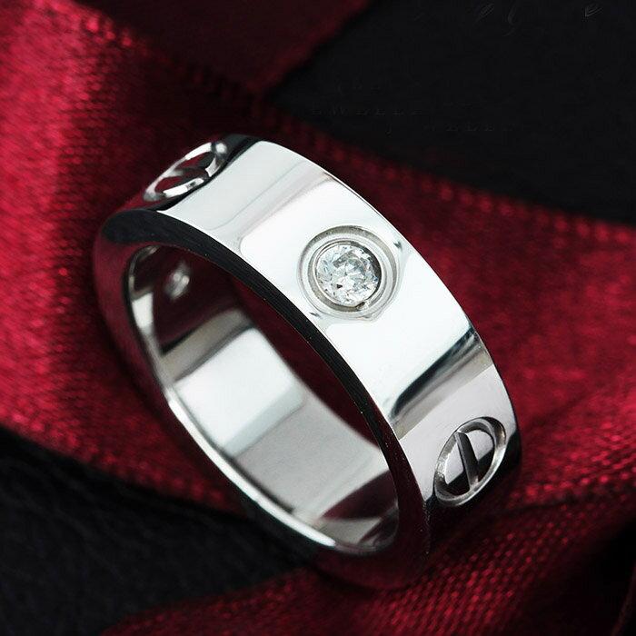 ステンレス リング ダイヤモンド CZ ペアリング サージカルステンレス 金属アレルギー対応 錆びない 錆びにくい ペア シンプル 指輪 シルバー ラヴァーズリング [ 送料無料 ][ 即納 ]
