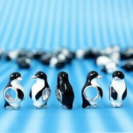 アクセサリー パーツ チャーム ハンドメイド キーホルダー アニマル 動物 プチ ペンギン アクセサリーパーツ 1個 [送料無料] [即納]