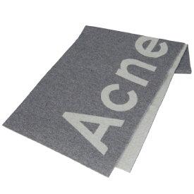 アクネ ストゥディオズ ACNE STUDIOS マフラー ロゴ ジャカード ストール 200 X 50cm グレー 274176 0009 902【06-SS】
