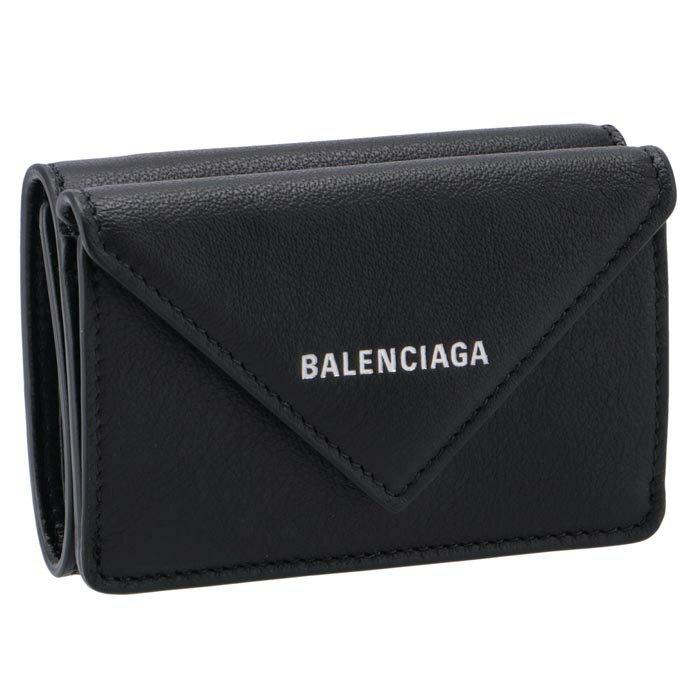 バレンシアガ BALENCIAGA 391446 ミニ財布 ペーパー ミニ PAPER 三つ折り財布 ブラック 391446 DLQ0N 1000