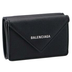 バレンシアガ BALENCIAGA 391446 ミニ財布 ペーパー ミニ PAPIER 三つ折り財布 ブラック 391446 DLQ0N 1000