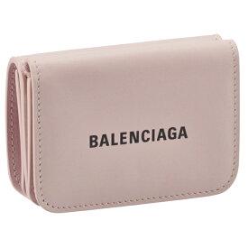 バレンシアガ BALENCIAGA 財布 三つ折り ミニ財布 ロゴ キャッシュ ミニウォレット ピンク系 593813 1I353 5960