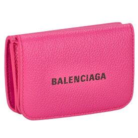 バレンシアガ BALENCIAGA 財布 三つ折り ミニ財布 ロゴ ミニウォレット ピンク系 593813 1IZ43 5660【06-SS】