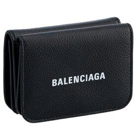【SALE】バレンシアガ BALENCIAGA 財布 三つ折り ミニ財布 ロゴ ミニウォレット ブラック 593813 1IZIM 1090【21WS】