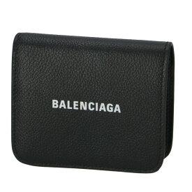 バレンシアガ BALENCIAGA 2020年春夏新作 財布 二つ折り ロゴ フラップウォレット ブラック 594216 1IZ4M 1090