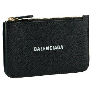 バレンシアガ BALENCIAGA 2021年春夏新作 カードホルダー&コインケース ミニ財布 フラグメントケース ブラック 637130 1IZIM 1090【2021SS】