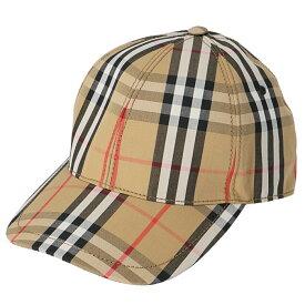 バーバリー BURBERRY ベースボールキャップ ヴィンテージチェック 帽子 アンティークイエロー 8015833