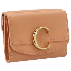 クロエ CHLOE 財布 三つ折り ミニ財布 Chloe' C コーラル系 CHC21SP088 E01 6I1
