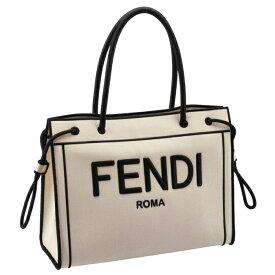 フェンディ FENDI 2020年秋冬新作 トートバッグ ROMAショッパー ミディアムトート アイボリー系 8BH378 AD6A F0APG