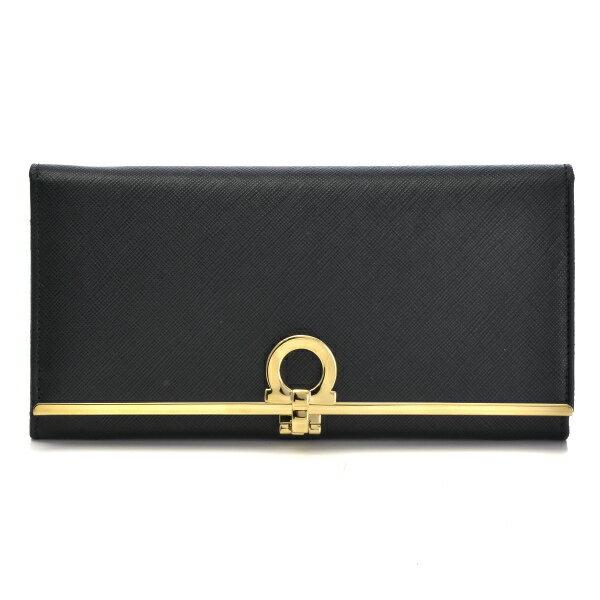 フェラガモ FERRAGAMO 財布 型押しカーフスキン 二つ折り長財布 224633 0007 0306
