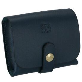 イルビゾンテ IL BISONTE カードケース 名刺入れ コインケース 小銭入れ マルチケース レディース メンズ ユニセックス ブルー ネイビー C0848 P 866