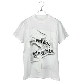 メゾン マルジェラ MAISON MARGIELA ロゴ Tシャツ ホワイト系 S51GC0499 S22816 100
