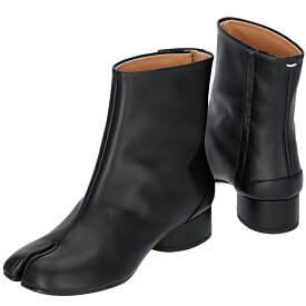 メゾン マルジェラ MAISON MARGIELA 2019年秋冬新作 Tabi タビブーツ 足袋ブーツ レザーブーツ レディース 靴 ブラック S58WU0273 PR516 T8013
