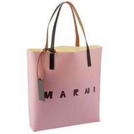 マルニ MARNI 2020年秋冬新作 ロゴ トートバッグ PVCショッピングバッグ ピンク系 SHMPQ10A06 P3660 LOC03