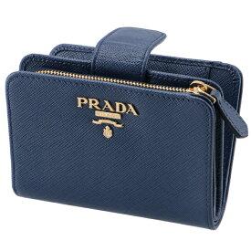 02c48e429694 プラダ PRADA 2019年春夏新作 財布 二つ折り レディース サフィアーノ ミニ財布 ブルー系