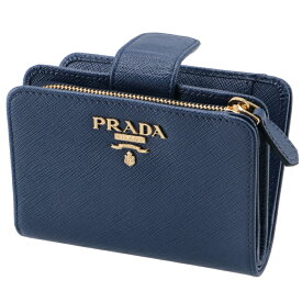 2debb5ed0460 プラダ PRADA 2019年春夏新作 財布 二つ折り レディース サフィアーノ ミニ財布 ブルー系