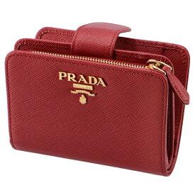 プラダ PRADA 財布 レディース サフィアーノメタル 二つ折り財布 レッド 1ML018 QWA 68Z【06-SS】