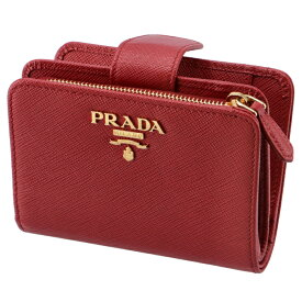 4368aefb7c20 プラダ PRADA 2019年春夏新作 財布 レディース サフィアーノメタル 二つ折り財布 レッド 1ML018