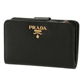 プラダ PRADA 財布 二つ折り サフィアーノ 二つ折り財布 レディース ブラック 1ML225 QWA 002
