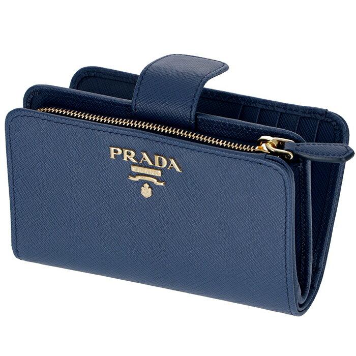 プラダ PRADA 財布 型押しカーフスキン 二つ折り財布 1ML225 QWA 016