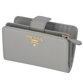 プラダ PRADA 2020年春夏新作 財布 二つ折り 折財布 サフィアーノ レディース グレー系 1ML225 QWA 424