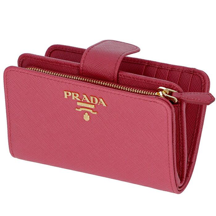 プラダ PRADA 財布 型押しカーフスキン 二つ折り財布 1ML225 QWA 505