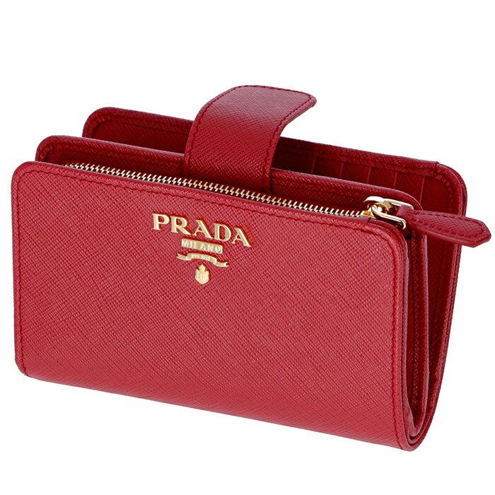 プラダ PRADA 財布 型押しカーフスキン 二つ折り財布 1ML225 QWA 68Z