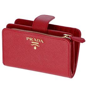 プラダ PRADA 財布 型押しカーフスキン 二つ折り財布 1ML225 QWA 68Z【06-SS】
