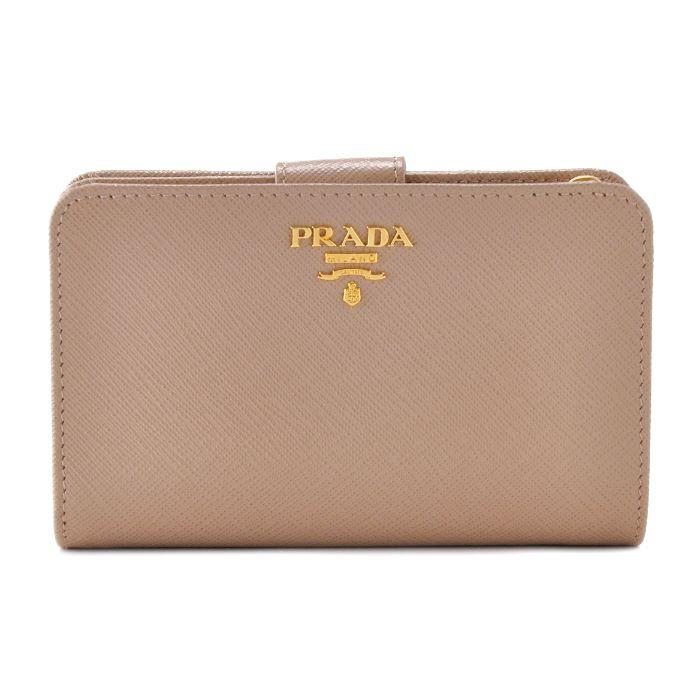 プラダ PRADA 財布 型押しカーフスキン 二つ折り財布 1ML225 QWA 770