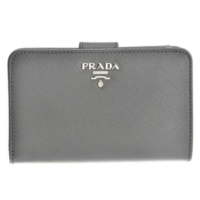プラダ PRADA 財布 1ML225 2017年秋冬新作 財布 サフィアーノ レディース 二つ折り財布 グレー 1ML225 QWA K44