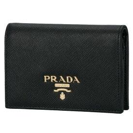プラダ PRADA 2020年春夏新作 財布 レディース 二つ折り サフィアーノ ブラック 1MV021 QWA 002